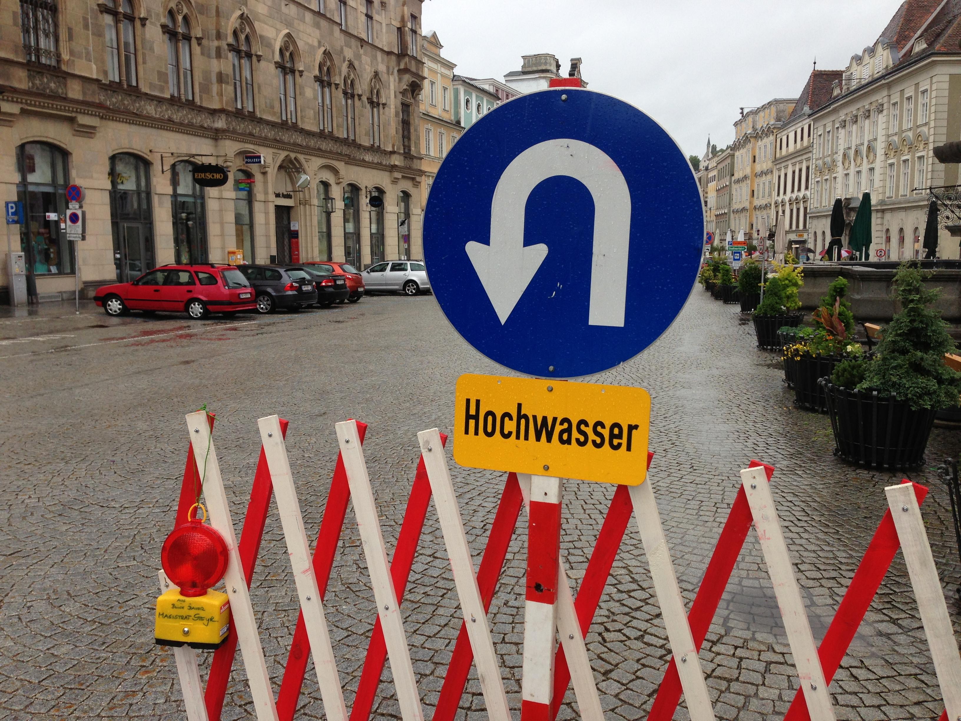 Im Jahr 2002 drang das Hochwasser sogar auf den Stadtplatz vor, 2013 war das nicht der Fall