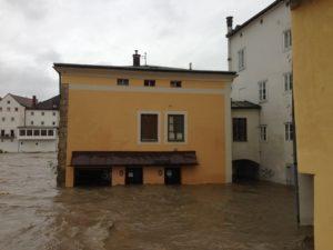 Die Bewohner von Steyr sind an das Hochwasser gewöhnt