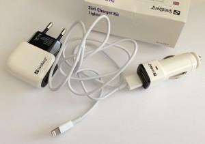 Das Sandberg 3in1 Charger Kit Lightning EU (Foto: nurido.eu)