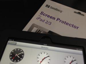 Eine Displayschutzfolie verhindert das Zerkratzen des iPad-Touchscreens