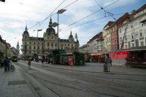 Das Rathaus in der Grazer Altstadt