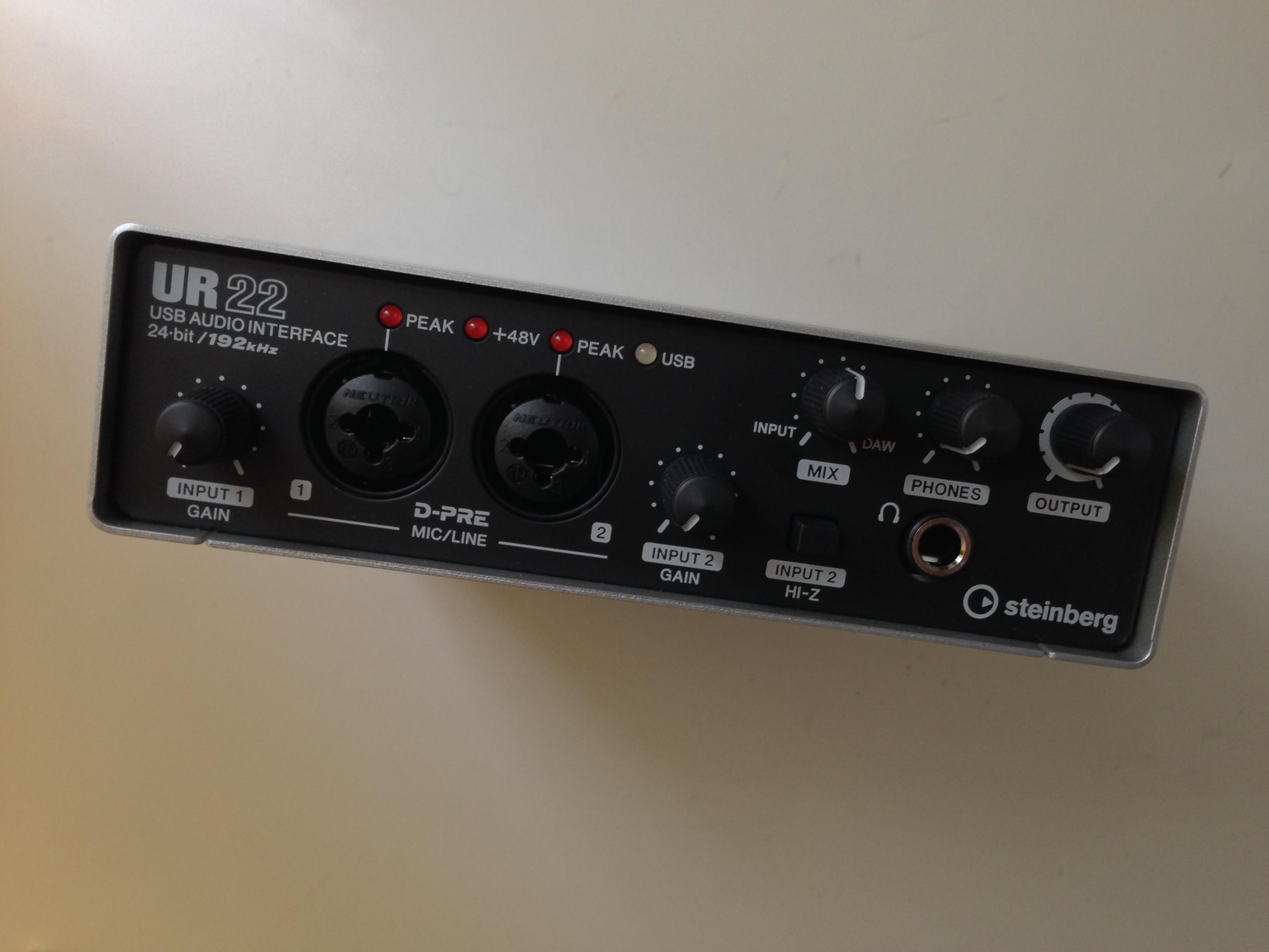 Das Steinberg UR22 USB 20 Audiointerface und Mikrofon-Preamp