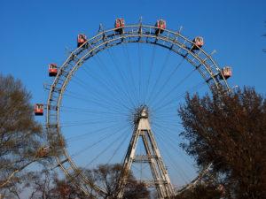 Das Riesenrad ist eines der Wahrzeichen der Bundeshauptstadt Wien
