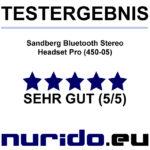 Testlabel Sandberg Bluetooth Stereo Headset Pro