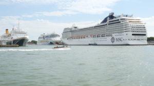 Venedig wird von zahlreichen Kreuzfahrtschiffen angesteuert