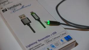 Das LED-Ladekabel für den Lightning-Anschluss